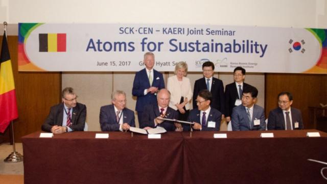 Samenwerkingsovereenkomst tussen SCK•CEN, het Studiecentrum voor Kernenergie, en KAERI, the Korea Atomic Energy Research Institute