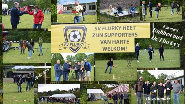 """Vijf maal  """" Kubben bij voetbalploeg SV. Flurky  """" in Achterbos"""