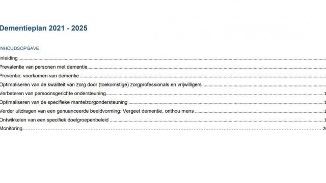 Dementieplan van minister Wouter Beke