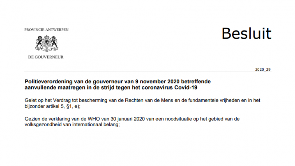 Regels voor het organiseren van evenementen provincie Antwerpen