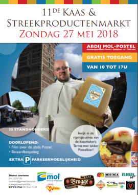 flyer 11de Kaas- en Streekproductenmarkt Mol Postel