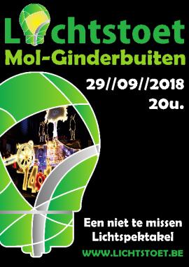 flyer Lichtstoet Mol Ginderbuiten 2018