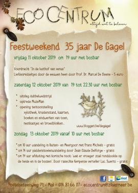 flyer Feestweekend 35 jaar De Gagel