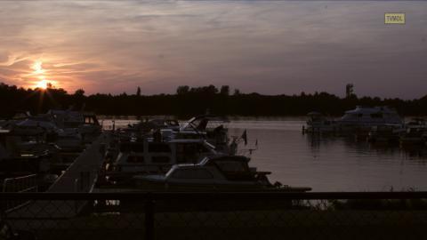 Zilvermeerhaven zonsondergang