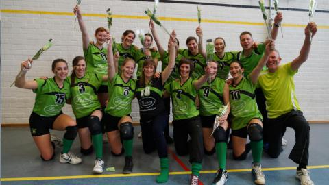 Volleybalclub Voach Mol Achterbos voor de 3e maal kampioen in 4 jaar tijd