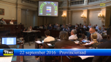 Provincieraad provincie Antwerpen 22 september 2016