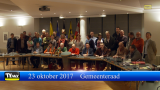 Gemeenteraad 23 oktober 2017