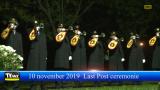 Last Post ceremonie met de klaroenblazers brandweerpost Mol